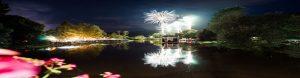 Feuerwerk Wied in Flammen in Waldbreitbach